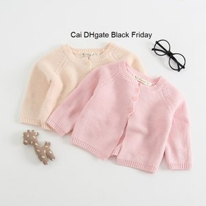 Autumn Newborn Baby Cardigans Coats Solid Girls Knitted Outerwear Sweater Girls Winter Clothes Baby Clothing Infant Jacket Tops