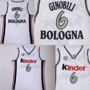 Manu Ginobili Koleji Formalar 6. Virtus Kinder Bologna Avrupa Camiseta De Baloncesto% 100 Nakış Dikişli