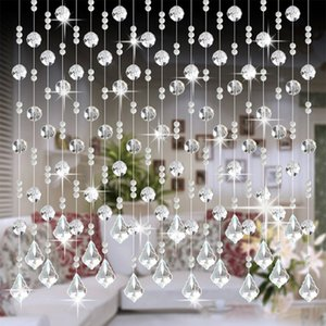 2019 NEW 1M Crystal Glass Bead Curtain Living Room Bedroom Window Door Wedding Decor High-end decoration