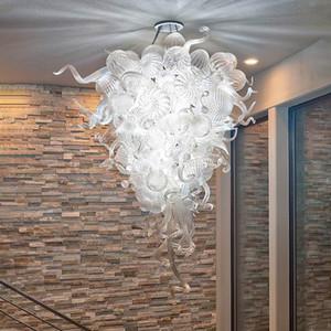 Handmade geblasenem Glas Kronleuchter Beleuchtung Klar Decke dekorative LED moderne Pendelleuchten G9 Kunst-Dekor-Glaspfeife Leuchter-L