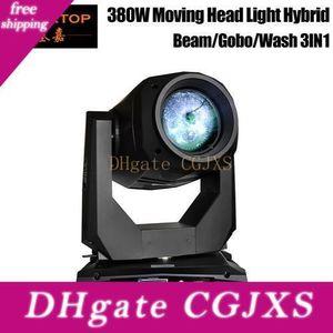 Gigertop Новый 380W 3в1 Moving Head Light Beam Wash Пятно Гобо 3 В 1 Effect Professional Stage Lighting Rdm Функция масштабирования фокусировки