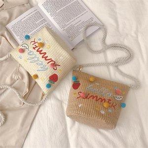 Wicker Mini For Straw Beach Handmade Handbag Bolsos Bucket Bag Rattan Women Bag's Garden Casual 2021 New Woven Summer Hairbal Vosot