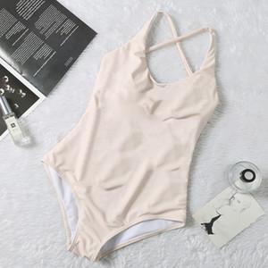 Einfache Designer Badeanzug Padded Push Up Frauen einteilige Badebekleidung im Freien Strand Schwimmen Verband Reise Urlaub Must Swimsuits Hot Verkauf