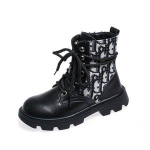 Бутик Дети сапоги из натуральной кожи девушки ботинки принцессы девушки ботинок лодыжки дети Мартин сапоги дети обувь обувь для девочек детская обувь B2119