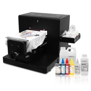 DTG Imprimante A4 Taille Multifuction plat Imprimante directe à vêtement T-shirt multicolore Machine d'impression pour vêtements de haute qualité