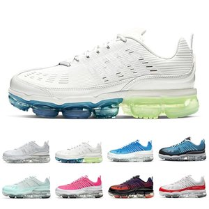 Nike Air VaporMax 360 Summit White FlyKnit 360 men women running shoes Black Iridescent University Red Royal Cream Laser Blue 360s mens trainers sports sneakers Chaussures Zapatos