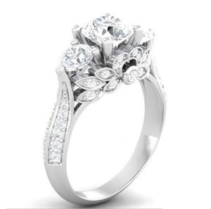 США GIA сертификата SONA алмаз 100% Твердые ювелирных изделия Серебряного кольца 2ct обручальных колец для женщин 925 Серебряного кольца