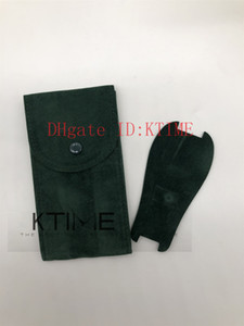 Hot Sale Top Quality Smooth Green Pouch Watch Protective Case For 116610 116713 126603 Rolex Watches Pocket Gift Bag