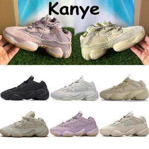 kanye qualidade superior 500 tênis de corrida do rato de deserto visão suave utilidade corar sal negro super lua osso amarelo chaussures brancos das sapatilhas dos homens