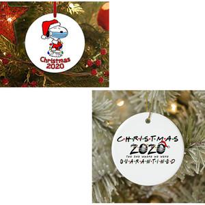 Рождественская елка висит кулон без смолы украшения маски висит снеговик праздник подарки ПЭТ круг смешной моды украшение день свободный корабль