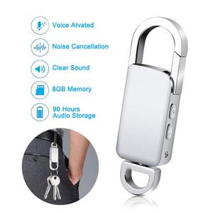 المفاتيح 4GB / 8GB / 16GB تسجيل صوتي رقمي تسجيل الصوت المنشط USB فلاش حملة الفضة الصوت صوت الإملاء لاعب المحمولة MP3