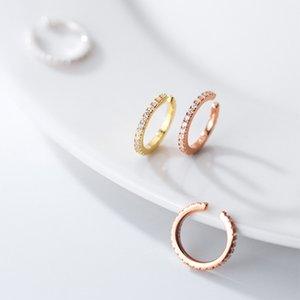 Earcuff 925 Sterling Silver Zircon Clip On Earrings No Pierced Ear Cuff Earrings For Women Jewelry Girl Korean CZ Small Clips