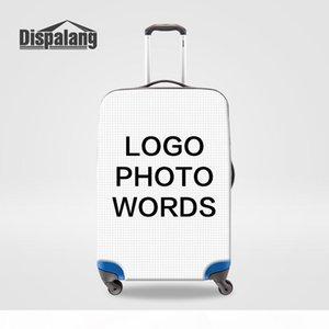 Personalizar su cubierta protectora propio diseño equipaje para 18-30 pulgadas del tronco impermeable a prueba de polvo lluvia maleta trolley Cubiertas Accesorios de viaje