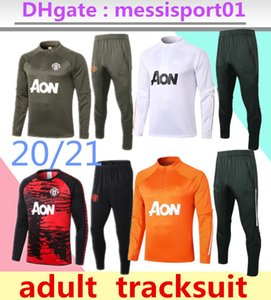 2020 2021 homens formação manchester terno MARCIAL Rashford pé sportswear futebol correr 2020/21 Pogba United Soccer Treino de alta qualidade