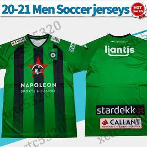 2020 2021 Cercle Brugge Fußball-Trikot grün 20/21 Brugge Fußballhemden Männer kurze Ärmel Fußballhemden