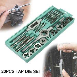20pcs Ratchet Spanner Precision Drill Bit Set Tap Wrench Cork Set Hardware perfuração de perfuração Multifuncional liga de aço duro