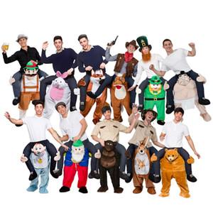 Maskottchen-Kostüm Unisex Halloween Cosplay Neuheit-Fahrt auf Kostümtier lustiges Abendkleid Hosen Weihnachten Kostüme für Boy / Girl