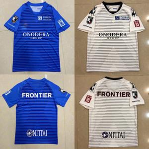 2020 2021The Yeni 19 Japonya J lig Yokohama FC ev KAZU Shunsuke Nakamura Tişörtlü Mavi ev forması