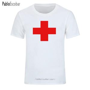 Top-Qualität T Shirts Mode RED MEDICAL CROSS Gedrucktes T-Shirt Mann-Marken-T-Shirt aus Baumwolle T-Shirt in Übergrößen