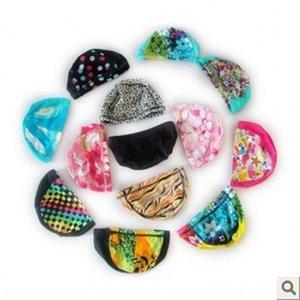 여성의 남녀 천 수영 모자 색상 임의 단색 다중 선택 수영 모자 온천