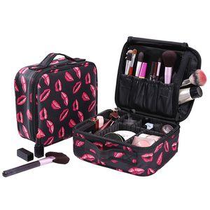 Lip Pattern cosmetic case high quality Oxford cloth cosmetic bag travel organizer Women beautician big capacity Makeup Bag