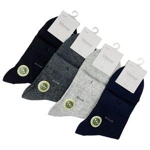 Si lunqi шелковицы середины теленок сплошного цвет большие сетки в середине волокно бамбука Si LUn мужского шкафут мужских носков середины талия носки