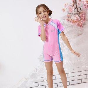 Kindersonnenschutz einteiliger Badeanzug Badehose thermische Tauchen s schnelltrocknend Badebekleidung Warm schwimmen Tauchen Mädchen Jungen Mädchen swimming