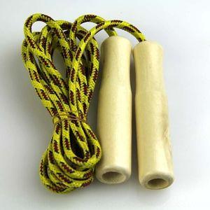 Пряжа хлопчатобумажная веревка товаров дети хлопчатобумажная пряжа веревка детская деревянная ручка спортивный ткачество пропуска пропуск деревянной ручкой tRupq