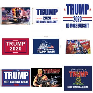 Trump due facciate Bandiere giardino Presidente elezioni generali Banner 2020 Trump Bandiera in poliestere Trump Bandiera plastica Pennone Pennant Banner Bandiere # 518