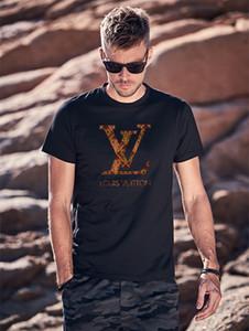 mens camiseta de algodão homem respirável tshirt homem macio cobre T Cool Summer respirável novo camisa de manga curta t Louis Vuitton