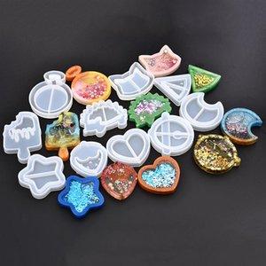 Catena Mold Kawaii Shaker silicone della resina del cuore della stella della luna del gelato UV Epoxy Resin Stampi chiave artigianato Ciondolo accessori per la casa attrezzi dei monili
