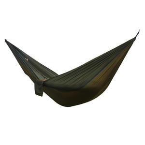 1-2 Pessoas Parachute Hammock Tent Outdoor Survival Hamac rolamento 200KG Garden Hamak Camping Equipamento Kit de viagem com mosquetão