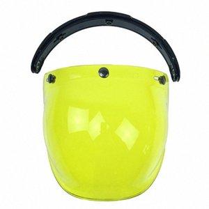 3-Snap Shield burbuja de viento visera Para Biltwell Gringo Bonanza casco de la motocicleta DDSs #