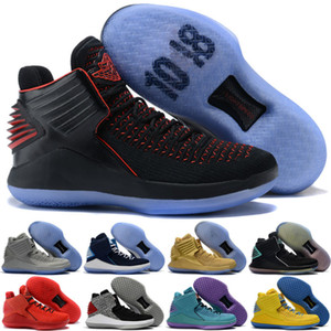 Pure Platinum 32 32s Kids Men RETRO Basketball Shoes CNY Camo Grey MVP Black Red Blue why not Rosso corsa Bred multicolor Sports Sneakers
