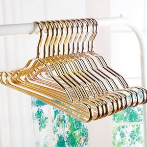 100pcs  Lot Space Aluminum Hanger Aluminum Alloy No Trace Clothing Support Household Anti -Skid Clothes Hanging Windproof Rust -Proof Clothe