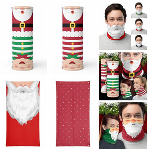 Christmas Magic Headscarf Visage Bandana Bandana Masque Visage de visage Sports de plein air Bandeau Cou Gaiter Décoration de Noël Cadeaux Masque de fête FY6093