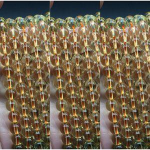 Al di là naturale cristallo giallo Diy pietra piezoelettrico sparsi perle tonde fatti a mano fai da te perline accessori cristallo giallo