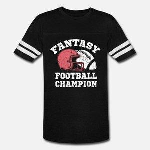 Fantasy Football Champion Одежда Trophy подарки Футболка Мужчина Fit Хлопок шея Pattern Fit дышащий Летний Стиль письмо