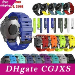 20/22 / 26m Silicone Quick Release Bracelet Bracelet pour Garmin Fenix 5 5x 6 6x 5s 6s Pro Montre Easyfit Bracelet Bracelet Pour Fenix Montre