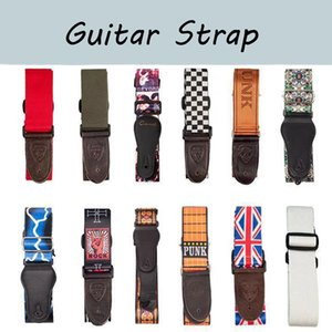 NAOMI Durable Guitar Strap Adjustable Acoustic Electric Bass Strap Guitar Belt Adjustable Colorful Printing Nylon Straps Guitar Parts