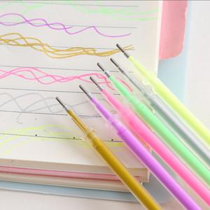 Gillter Gel Pen Set Recargas 24/48 / 100pcs Multicolor Marcador 1,0 milímetros substituível Núcleo for Kids DIY Pintura Supplies Escrevendo