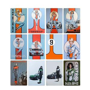 Dekor Plaque Tin Vintage Poster Dekoration Racing Zeichen Motor Wand Zoll Öl Golf Garage 8x12 Benzin-Team-Platten-Metall Heim ePWdt
