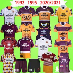 1992 1995 야생마 럭비 리그 저지 ndigenous 버전 나인 시스템 반바지 클래식 2020 2021 영웅 빈티지 기념품 에디션 t 셔츠 복고풍