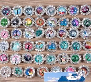 Il nuovo modo Rivca Snaps fascino pulsante gioielli mescolare gli stili 18 millimetri strass metallo Snap Button fascino misura i braccialetti NOOSA pezzo aa288