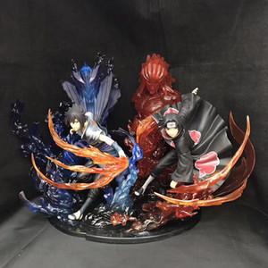 23cm 애니메이션 나루토 PVC 액션 피겨 제로 Uchiha의 이타치 화재 사스케 스사노오 관계 컬렉션 모델 장난감 MX200319
