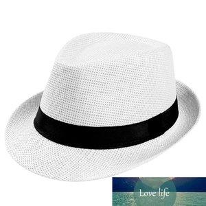feitong chaud unisexe Femmes Hommes Mode Été Casual Trendy Sun Beach Straw Panama Jazz Hat Cowboy Fedora chapeau Gangster Cap D19011106