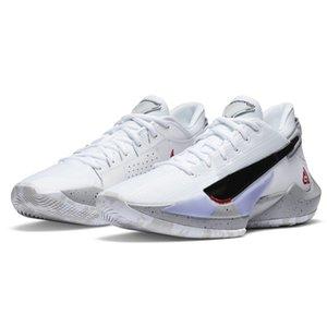 pas cher Zoom Freak 2 Blanc Ciment Bamo Naija Yánnis Antetokoúnmpo mens chaussures de basket-ball à la vente avec des enfants boîte magasin de chaussures de tennis