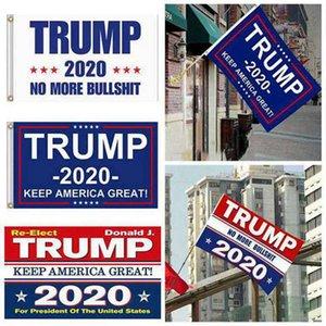 5 تصاميم المصنع مباشرة 3X5 قدم 90 * 150 سم تبقي أمريكا عظيم دونالد ترامب العلم لعام 2020 300PCS رئيس الولايات المتحدة الأمريكية