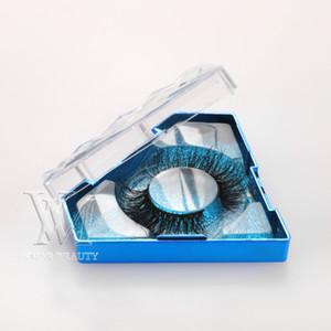 4 Стили Пользовательские алмазные ресницы Упаковочные коробки Подарочная коробка Брелок Пакет настроить хранения Case Makeup Cosmetic Case Mink False ReeLash