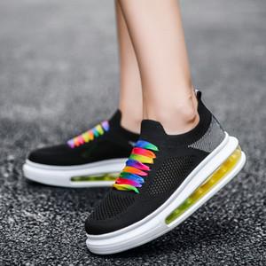 2020 mode coréenne femme noire concepteur de tennis casual chaussures confortables Air Sole Chaussures Femmes Casual Summer Mesh respirant dames mocassins